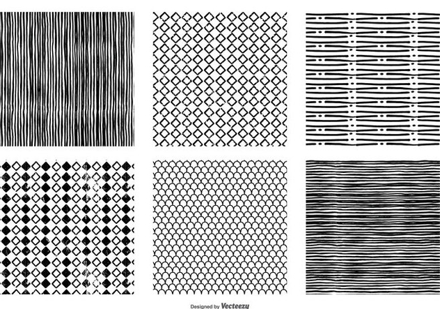 Hand Drawn Seamless Vector Patterns - vector gratuit #386369