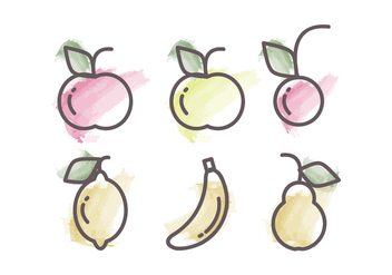 Vector Fruits Illustration - Free vector #386379