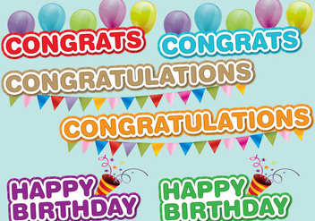 Congrats Titles - vector gratuit #386389