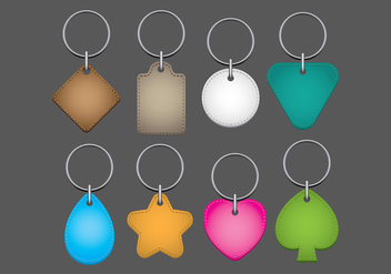 Colorful Key Chains Vectors - vector gratuit #386429