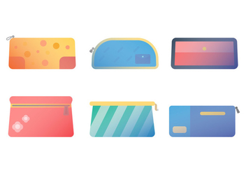 Free Pencil Case Vector 1 - vector gratuit #386539