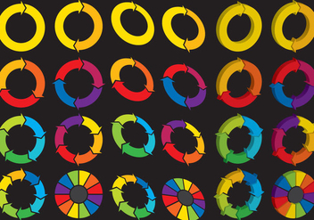 Spinning Wheel Logos - vector gratuit #386599
