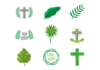 Free Palm Sunday Icons Vector - бесплатный vector #386699