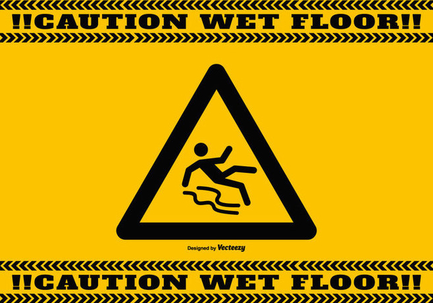 Wet Floor Caution Background - vector #386729 gratis