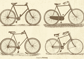 Vintage Vector Bicycles - vector gratuit #386739