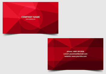 Free vector Polygon Business Card - vector gratuit #386789