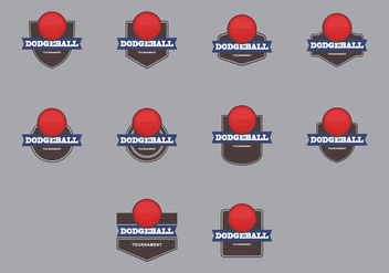 Dodge Ball Template Icon Set - vector gratuit #386809
