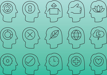 People Head Icons - Free vector #386849