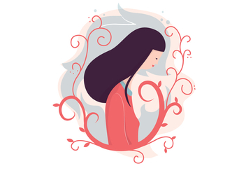 Girl Illustration Background - vector #386909 gratis