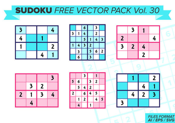 Sudoku Free Vector Pack Vol. 30 - бесплатный vector #387149