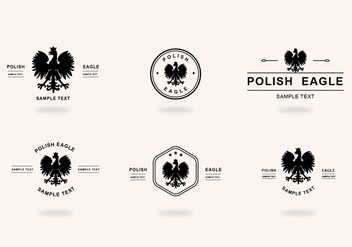 Six Black Polish Eagle - vector gratuit #387189