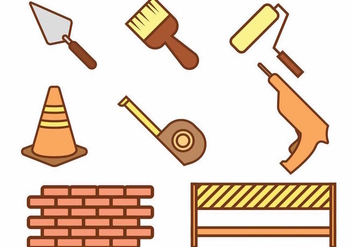 Bricklayer Icon Set - Free vector #387349