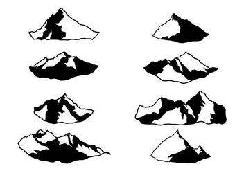 Free Everest Silhouette Vector - Free vector #387389