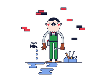 Free Plumber Vector - Free vector #387419