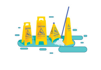 Wet floor Vector - бесплатный vector #387509