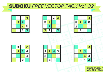 Sudoku Free Vector Pack Vol. 32 - бесплатный vector #387619