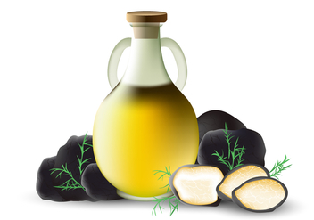Truffles Oil In Vector - vector gratuit #387629