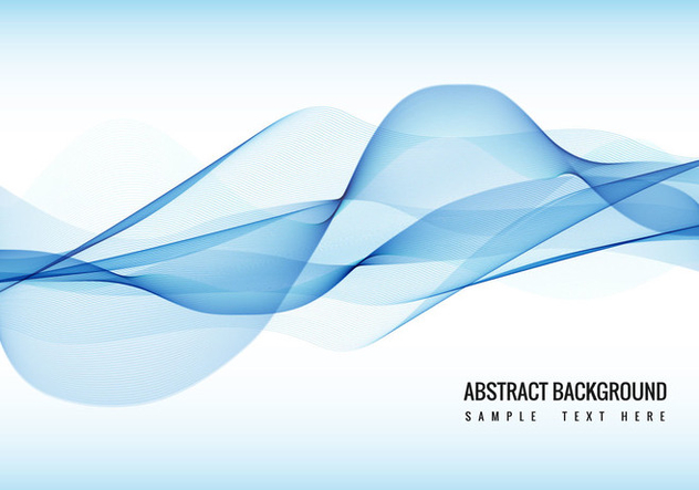 Free Vector Blue Wave background - бесплатный vector #387679