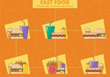Fast Food Vector Icons - vector #387719 gratis