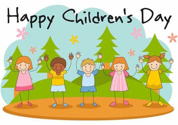Free Happy Children's Day Vector - vector gratuit #387739