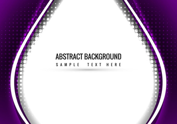 Purple Vector Wavy Background - vector gratuit #387749
