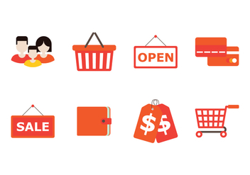 Family Shopping Icon - vector gratuit #387759