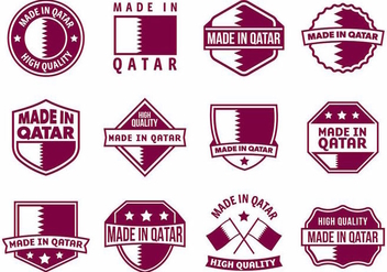 Free Made in Qatar Badges Vector - vector gratuit #387799