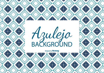 Navy Blue Azulejo Tile Background - Free vector #387819