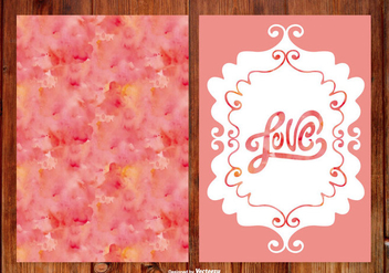 Watercoolr Hand Drawn Wedding Cards - vector #387829 gratis