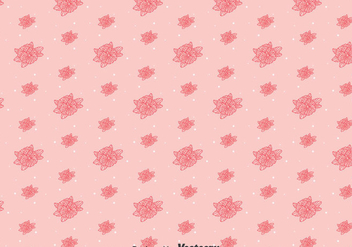 Pink Line Pansy Flower Pattern - vector gratuit #387849