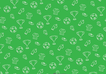 Soccer Green Pattern - Free vector #387859