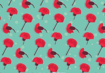 Carnation Flowers Pattern - vector #387869 gratis