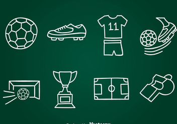Hand Drawn Football Element Vector - Free vector #387879