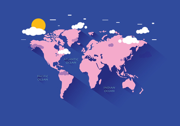 World Map Vector - vector #387899 gratis