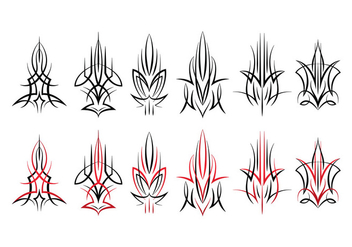 Pinstripes Design - vector gratuit #387929