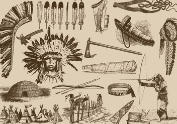 Native American Items - vector gratuit #387989
