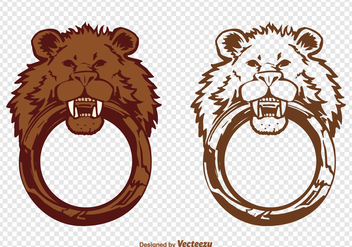 Free Vector Lion Door Knocker - бесплатный vector #388019