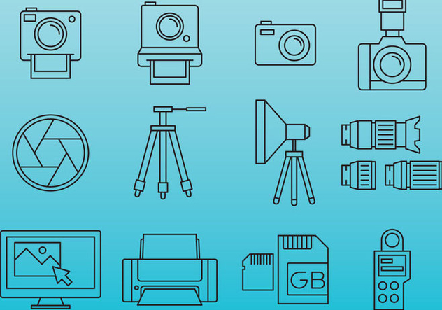 Professional Photography Icons - Kostenloses vector #388089