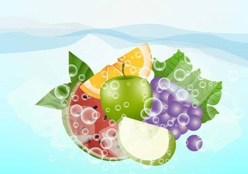 Effervescent Fruit - vector gratuit #388129