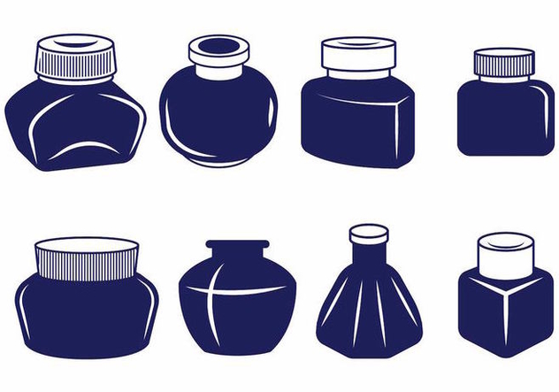 Ink Pot Set - Free vector #388209
