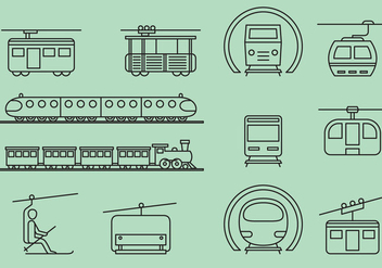 Rail And Cable Transports - Free vector #388239