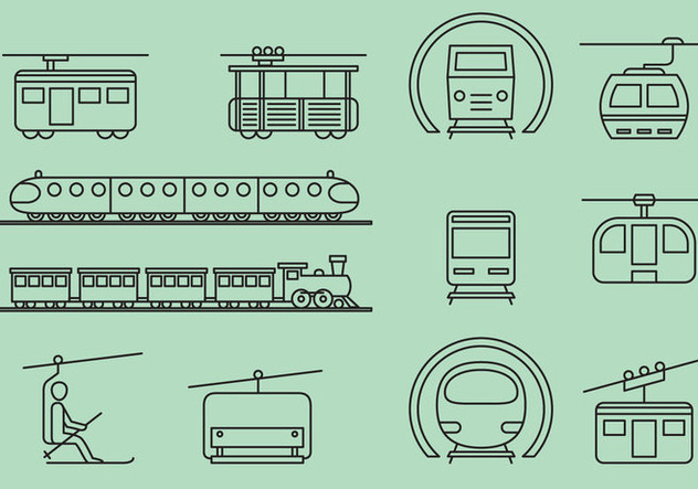 Rail And Cable Transports - Kostenloses vector #388239