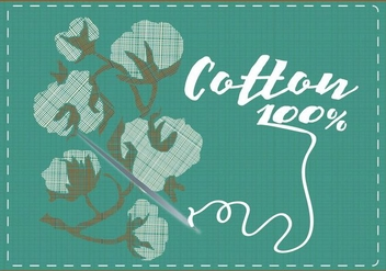 Cotton Plant Background - vector gratuit #388249