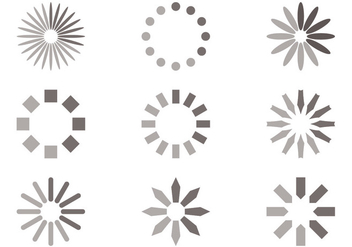 Circle Preloader Vector Set - Kostenloses vector #388279