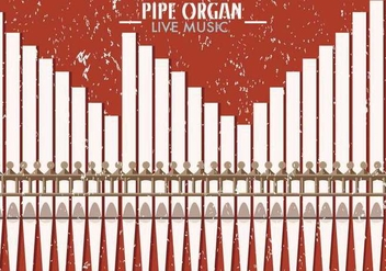 Pipe Organ Church Musical Background - vector gratuit #388319