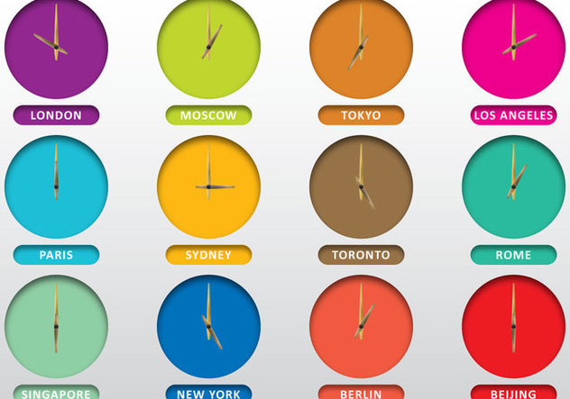Clocks Of Cities - vector #388359 gratis