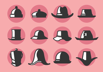 Bonnet and Hat Vector Icons - vector gratuit #388409