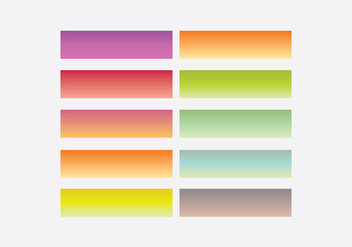 Webkit Linear Gradient Top Template Set - Free vector #388449