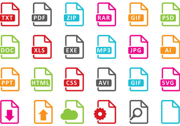 File Icons - vector #388499 gratis