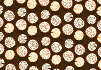 Wood Logs Pattern - vector gratuit #388729